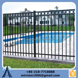 Tubular powder coating welded decorative metal fence(factory sale and export)