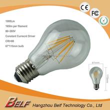 1000Lm/1200Lm High Lumen 7W/8W/10W/12W A67(A21) Dimmable LED Filament Light Bulbs E26/E27