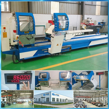 Aluminum profile cutting machine with double mitre saws