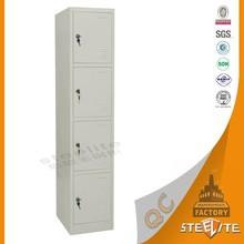 4 Compartment Metal Lockers/Industrial Employee Locker/Stainless Steel Cupboard