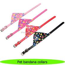 Waterproof pet flower bandana collars pet products collars