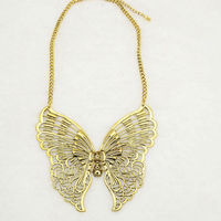 OU4610 Fashion Dubai Gold Custom Made Alloy Butterfly Necklace ,2014 New Hot Imitation Jewelry,Punk Accessory,China Website
