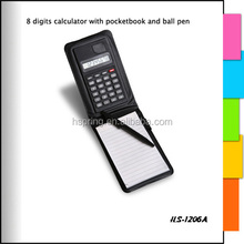 Promotion spiral kraft paper notebook calculator