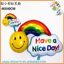 Rainbow foil balloons