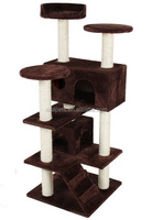 Deluxe luxurious cat scratcher durable natural sisal rope cat tree furniture