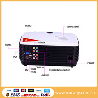 Best Native 720P 2500lumens full hd 3d led projector with tv tuner/wholesale for samsung galaxy s4 pocket mini projector
