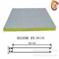 2015 hot selling high quality 1150mm polyurethane sandwich wall panels
