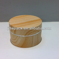 light wood grain round cream jar with right angle cap,plastic jar,personal care cream jar