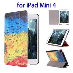 Paypal Accepted 3 Folding Flip Leather Flip Cover for iPad Mini 4 Case