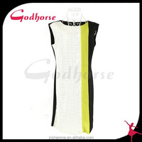Elegant short sleeve fashion girls dress, elegant sleeve dress in 2015