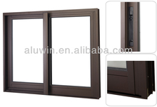 thermal break aluminium sliding window with double glass