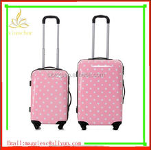 """xc-3106 """"16"""" inch abs pc aluminum suitcase/ suitcase abs+pc luggage trolley case on sale/ abs 2pc trolley luggage sets"""