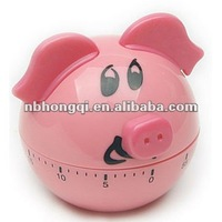 Plastic Cartoon Pig/Piggy Kitchen Timer Countdown Timer