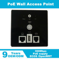 48v POE 300Mbps Professional Inwall Hotel AP Wall Mount Access Point