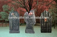 Vintage Empire Halloween Skeleton Tombstone 35 inch Tall Blow Mold