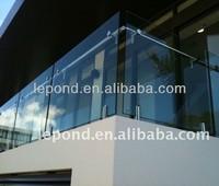 outdoor balcony frameless glass balustrade/glass fixing balustrade