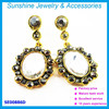 new arrive gold earring crystal rhinestone hook earring