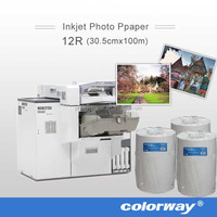 """For Fujifilm Quality Dry Minilab Photo Paper Glossy or Lustre finish 4"""", 5"""", 6"""", 8"""", and 10"""" rolls"""
