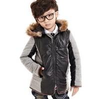 NEW ARRIVAL,BOY WINTER DRESS COATS,THICKEN LONG COAT FOR KIDS