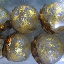 golden silver ball new designed popular food led decorate light solar christmas light