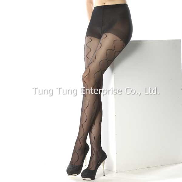 Taiwan Factory Wave Pattern Women Sexy Stockings