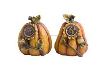 Cartoon Resin Sunflower Homen Decoration Pumpkin statues