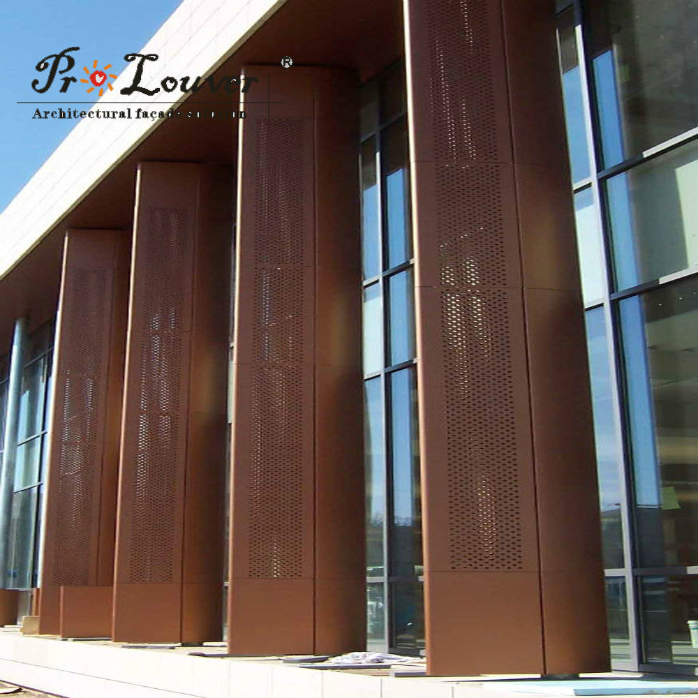 Metal Panel Facade : Architectural metal panel for facade curtain wall view