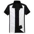 hombre ropa estilo rockabilly camisas años 50 camisa tipo bolera tallas grandes proveedor fabricante mangas cortas