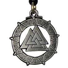 Vintage Knot Pendant Valkyrie Viking Pendant Necklace Religious Jewelry