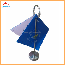 Metal menu holder stand with activity O ring for restaurant table menu stand