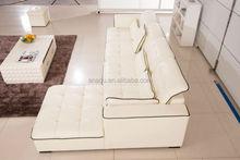 2015 modern corner sofa home furniture sectional recliner leather sofa l shape living room