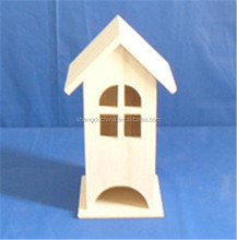 Hot selling simple handmade wooden bird house with window