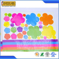 Custom printing eco-friendly colorful logo self adhesive labels sheets by China manufacturer
