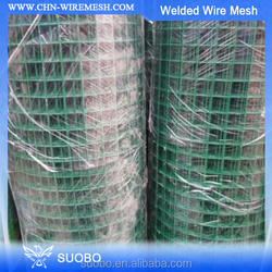 PVC Coated Welded Wire Mesh Fencing Chicken Poultry Aviary Fence Run Hutch Pet Rabbit 30m Dark Green