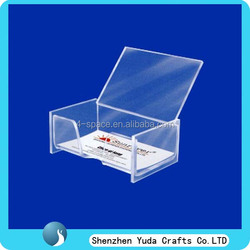 Wall mounted acrylic business card holder poster holder acrylic card display racks