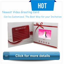 4.3'' video greeting card for wedding invitation with LCD display