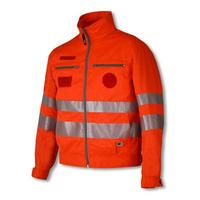 High visibility safety reflector jackets with EN20471