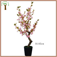 Artificial pink cherry blossom tree for home decoration