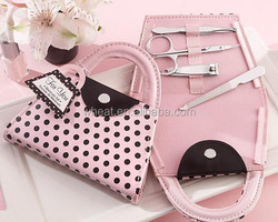 Sell Well Pink Polka Purse Manicure Set Bridal Shower Favors