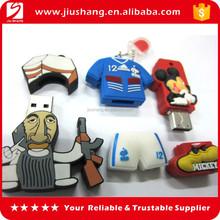 Cartoon character rubber usb flash drive stick bulk cheap