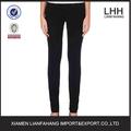 Llanura de cinco bolsillos delgado legging estilo jeans pantalones para mujeres