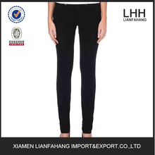 Plain five pockets slim legging style jeans trousers for women