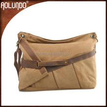 Canvas mens vintage leather cross body bags