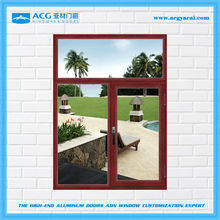 High quality best price surface treatment for Wooden brown aluminum windows
