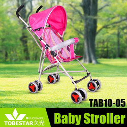Double Swivel Red Umbrella Baby Stroller Jogger Carrier