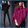 Fashion bat sleeve pullover sweater turtle neck women's sweater wool sweater wholesale
