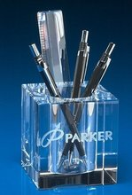 Office gifts crystal pen holder for office desk use and decoration
