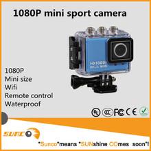 2015 HOT Sale waterproof Full HD 1080P wifi sport camera with battery , similar to SJ4000 sport camera