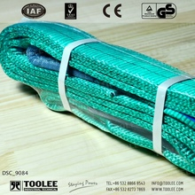 3521-2ton Flat Polyester Fibre Webbing Sling Eye Eye 7:1 Double