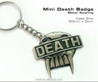custom silver plating promotional metal 3D keychain
